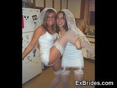 Public, Bride, Wedding, Tranny threeway dp girl
