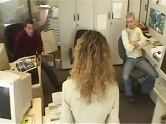 French, Office, Japan nudist office lady kisses and jerks off coworker