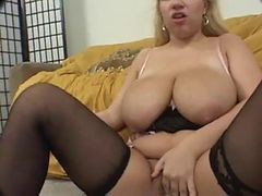 Blonde, Chubby, Skinny bitch and her chubby lesbian gf