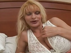 Blonde, Milf, Big Tits, Hot milf stepmom joins family sex with step son and daughter