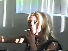 Blonde, Smoking, Masturbation, Big Tits, Smoking facial