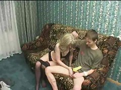 Russian, Mature, Real russian mom and son having sex