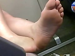 Train, Hot transsexual fucking sexy shemale showing feet