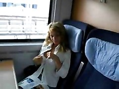 Wife, Train, Husband lets friend fuck his wife while shes sleeping