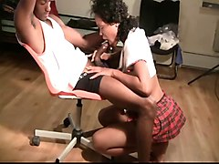 Ebony, Teen, Cant handle anal homemade crying