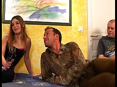 French, Husband, Flower tucci fucking in front of husband