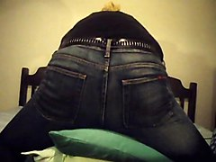 Jeans, Beauty, Orgasm, Ass, Table corner humping masturbation public