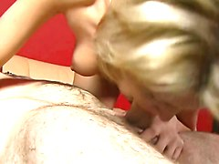 Blonde, Teen, Big Cock, Hot amateur redhead babe masturbating first time with a big dildo