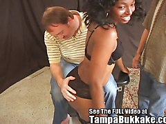 Ebony, Bukkake, Group, Group cfnm fetish femdom handjob in a train