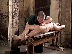 Milk, Slave, Mistress tickles tied slave