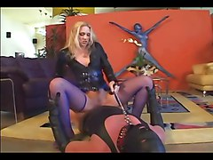 Blonde, Leather, Facesitting, Lingerie, Lady sonja leather