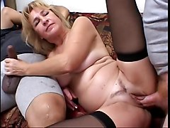 Blonde, Milf, Superb blonde chick gets fucked in her ass and pussy