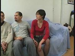 French, Gangbang, Teen, Turns in to gangbang