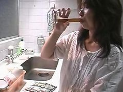 Asian, Gangbang, Japanese, Kitchen, Japanese casinlesbian