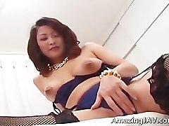 Bus, Lingerie, Busty japanese girl with huge boobs