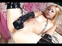 Anal, Blonde, Boots, Gloves, Wife and her sissyguy gets feminized and ass fucked in prison by chick