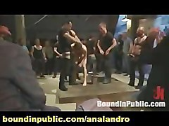 Public, Interracial gangbang for teen first time