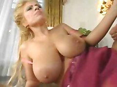 Blonde, Milf, 2 men 2 woman fuck in the ass and pussy
