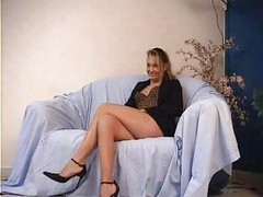 Anal, Casting, French, Mature, Big black cock chubby mature anal