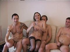 British, Foursome, Milf, Foursome leather