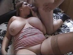 Bbw, Busty red head bbw solo