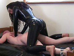 Latex, Condom latex catsuit