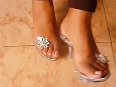 Feet, Heels, Mature high heel insertion