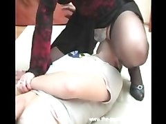 Russian, Hairy russian mom seduces her boy
