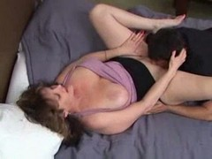 Mom, Mature, Mom anal creampie son