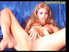 Blonde, Dildo, Hazel may fucking a cock