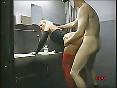 Blonde, Oil, Wife caught while fucked