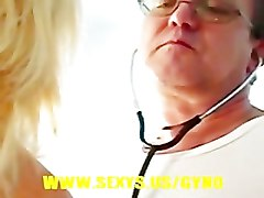 Blonde, Gyno, Teacher, Exam, Gyno exam couple