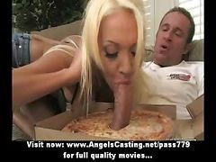 Blonde, Blowjob, 3d morphed muscles