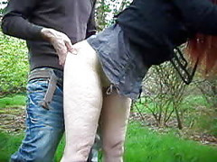Dogging, Outdoor, Mature creampie