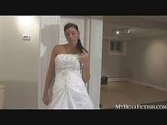 Bride, Wedding, Amateur latin - mexicana en el patio parte