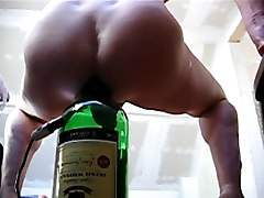 Bottle, Ass, Tied father