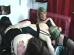 Crossdresser, Dress, Blonde crossdressing
