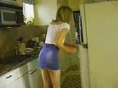 Young man fucks milf in her kitchen