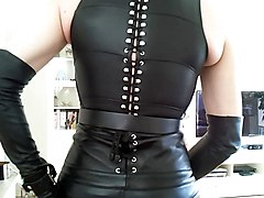 Leather, German milf in leather