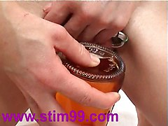 Bottle, Orgasm, Insertion, Extreme heel insertion