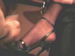 Heels, Stockings, Cumshot, High heel insertation