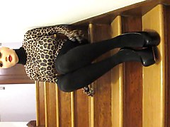 Black, Crossdresser, Dress, Tight, Interracial crossdressers