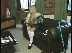 British, Swallow, Uniform, Cumshot, In school uniform and stockings