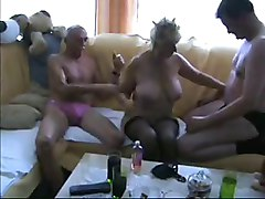 Amateur, Threesome, Anal russian mature harem