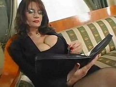 Bus, Mom, Hot mom seduces her son