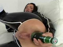 Bottle, Ass, Tied up and made to come