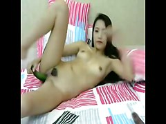 Chinese, Insertion fish in pussy