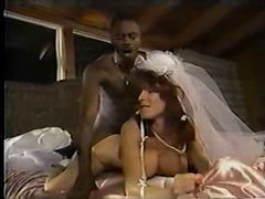 Black, Bride, Wedding, Couple amateur avec un inconnu