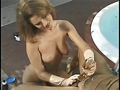 Gloves, Rubber glove handjob