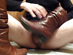 Boots, Leather, Wife, Amateur leather wife